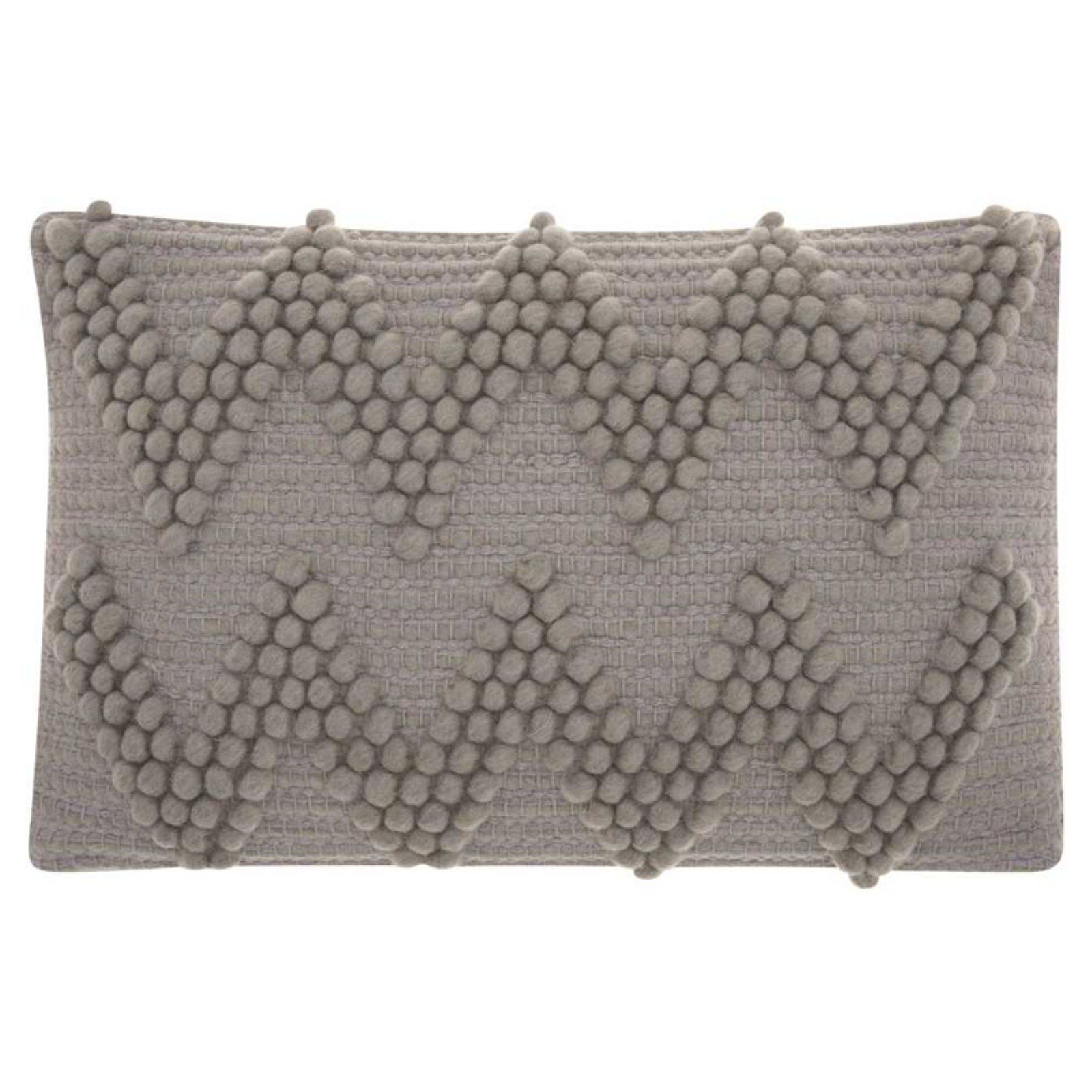 "Nourison Life Styles Large Chevron Decorative Throw Pillow, 12"" x 18"", Light Grey"