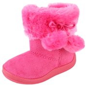 Kali Footwear Girls' Pom Pom Boots for Toddler Girls | Little Kid Ankle Boots | Pom Pom Shoes | Hot Pink 6 Toddler