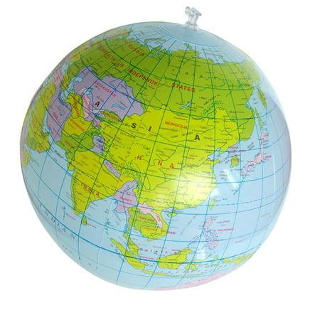 Binmer 40CM Inflatable World Globe Teach Education Geography Toy Map Balloon Beach Ball - Inflatable World Globe