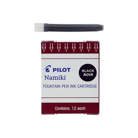 Pilot Namiki IC100 Fountain Pen Ink Cartridge, Black 12 per