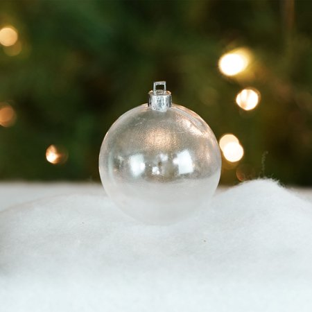 Shatterproof Clear Transparent Christmas Ball Ornament 2.75