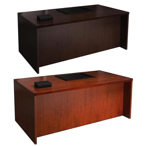 Mayline Mira Series 66-inch  Desk Shell Medium Cherry