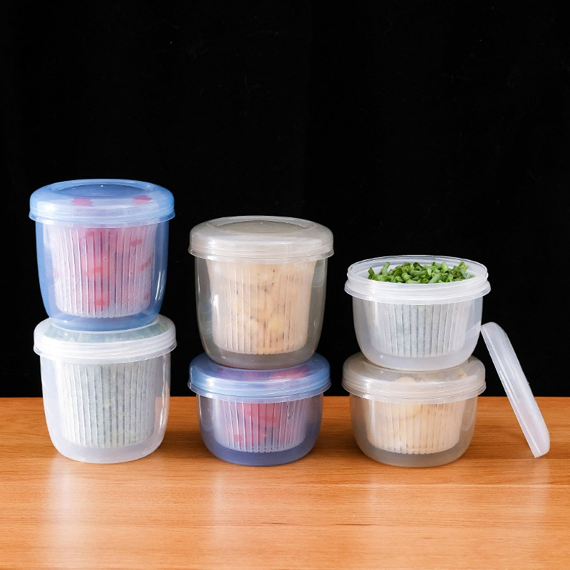 Household Kitchen Container Box Crisper Refrigerator Colander Fruit Vegetable