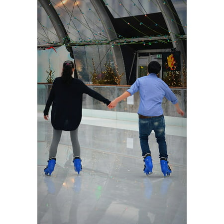 - Canvas Print Ice Skating Torque People Couple Connectedness Stretched Canvas 10 x 14