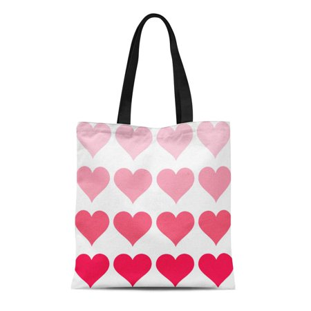 SIDONKU Canvas Tote Bag Welcome Ombre Hearts Wedding Personalized Guests Out Town Custom Reusable Handbag Shoulder Grocery Shopping (Gifts For Out Of Town Wedding Guests)
