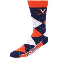 Virginia Cavaliers For Bare Feet Team Argyle Crew Socks