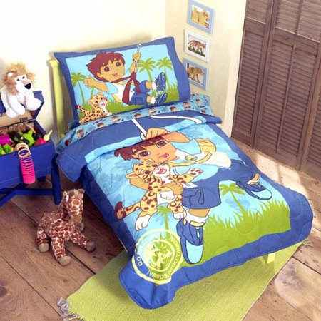 Dora The Explorer Diego 4 Pc Bedding Set - Walmart.com