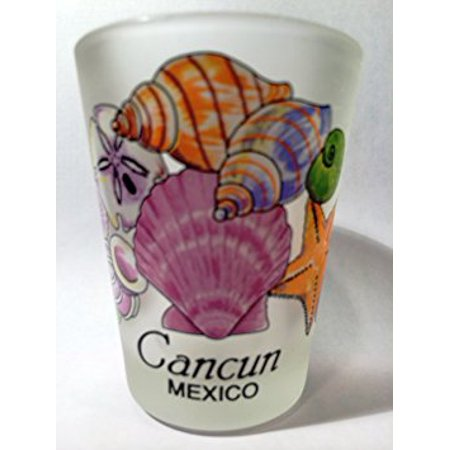 Cancun Mexico Sea Shells Shot Glass](Shotgun Shell Shot Glasses)