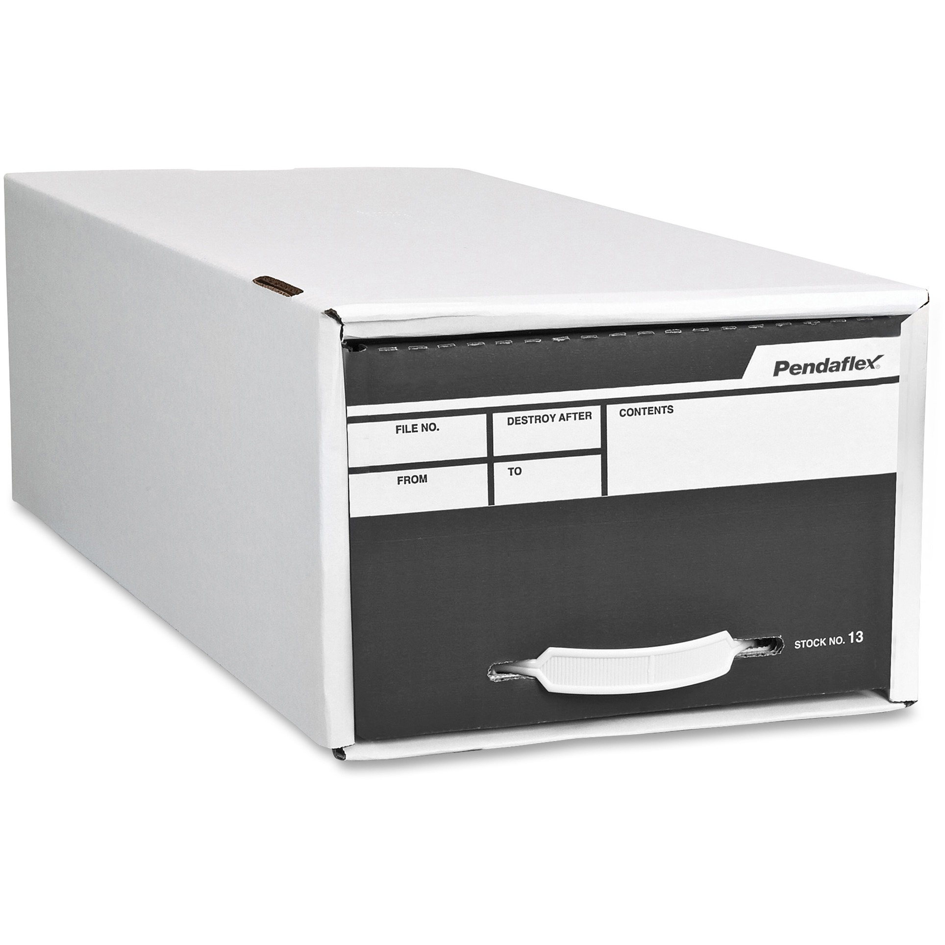 Pendaflex Standard Storage File Boxes, White, 1 Each (Quantity)