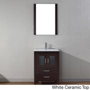 VIRTU USA  Dior 24 inch Single Sink Vanity Set in Espresso