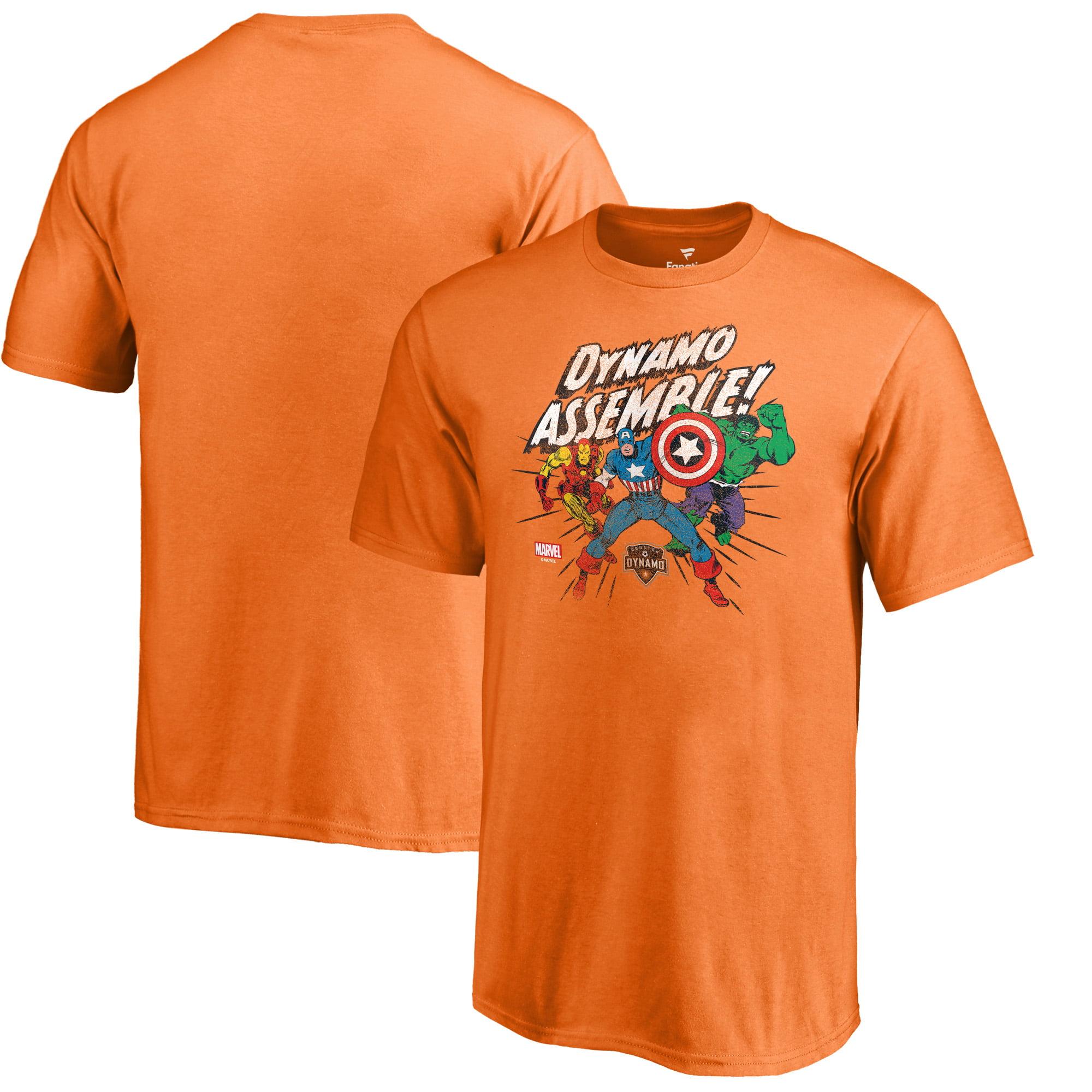 Houston Dynamo Fanatics Branded Youth Marvel Avengers Assemble T-Shirt - Tenn Orange