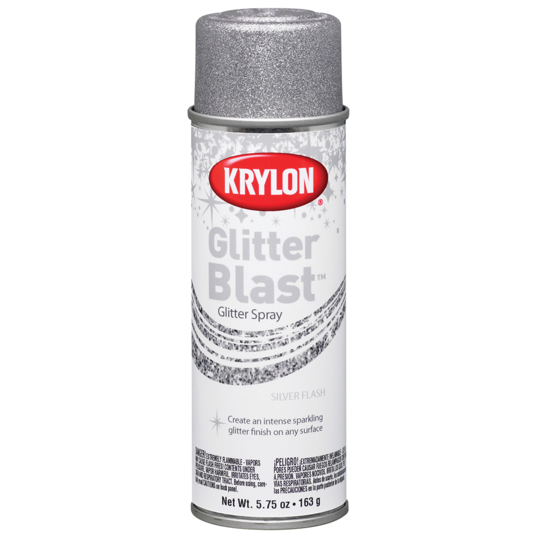Krylon Glitter Blast Spray Paint, 5.7 oz., Silver Flash
