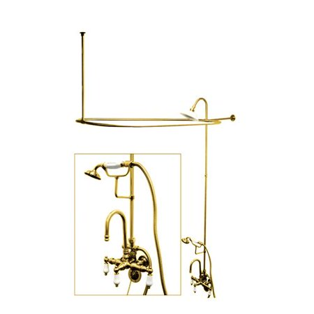 Vintage Triple Handle (Kingston Brass Vintage Triple Handle High Rise Gooseneck Clawfoot Tub and Shower)