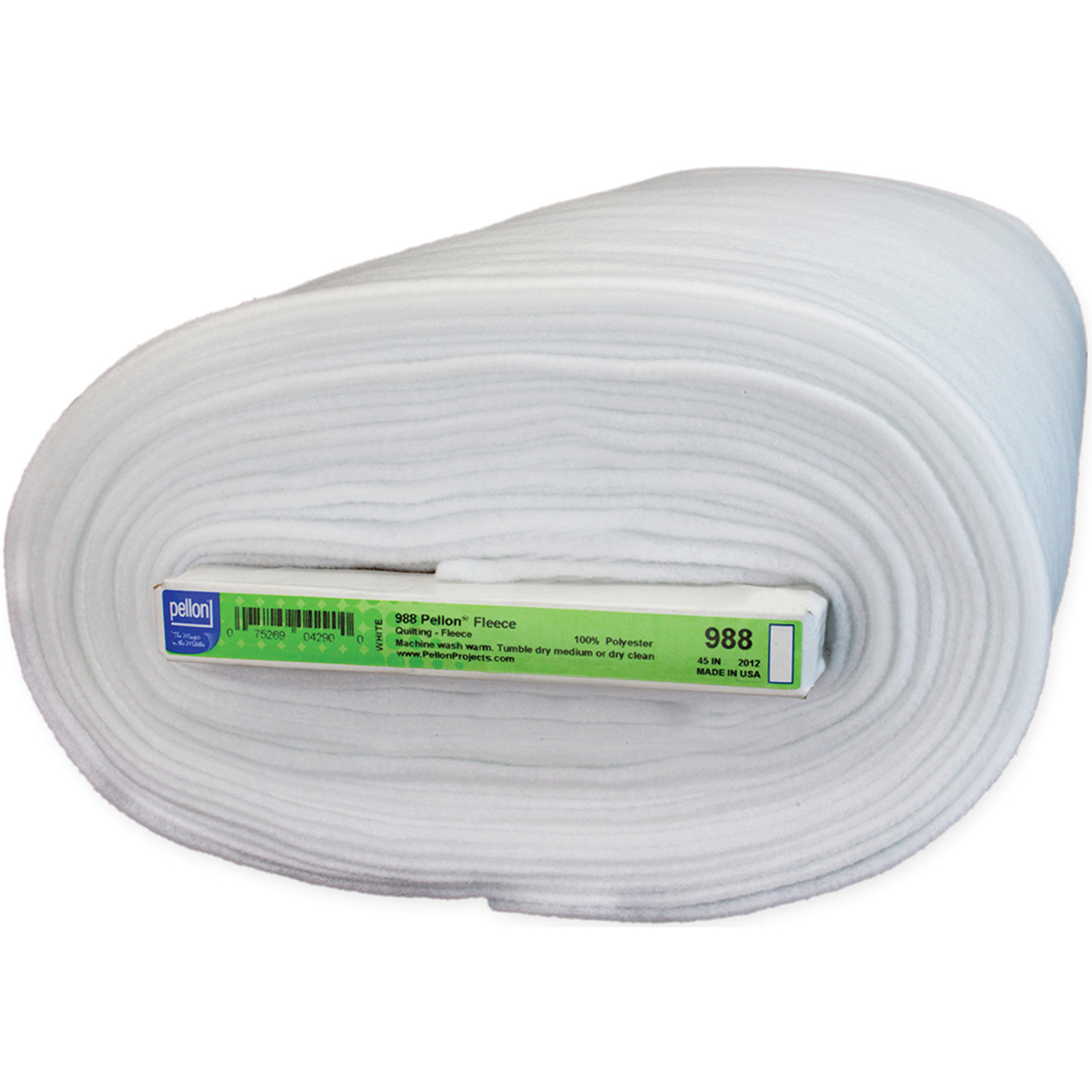 """Pellon Sew-In Fleece, 44"""" x 20 yds, White"""