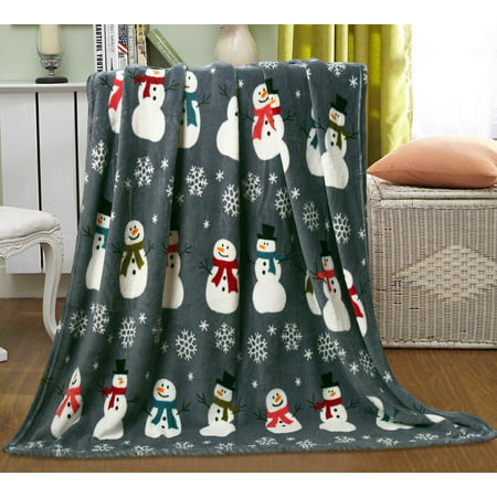 Let It Snow Collection Holiday Microfleece Throw Blanket (50