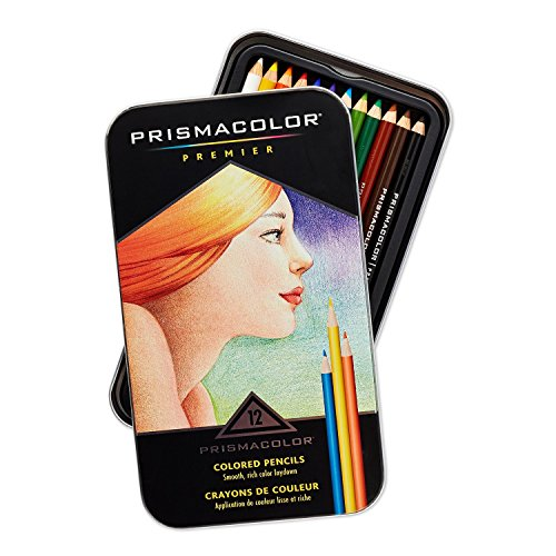 Prismacolor Premier Colored Woodcase Pencils, 12 Assorted Colors with Strathmore Palette Paper Pad, 12 by 16 Inch - 2 Items Bundled by Maven Gifts