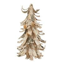 Vickerman 34319 - 1' Birch Bark Cone Christmas Tree (P137613)