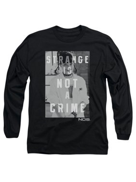 0f41ab7eb2b Product Image NCIS Crime Drama TV Series Abby Strange Is Not A Crime B W  Adult LSleeve T-