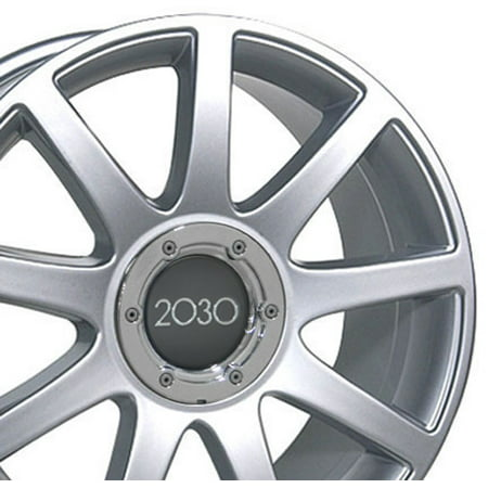 OE Wheels 18 Inch RS4 Style | Fits Volkswagen CC Beetle Audi A3 A8 A4 A5 A6 TT | AU04 Painted Silver 18x8 Rim