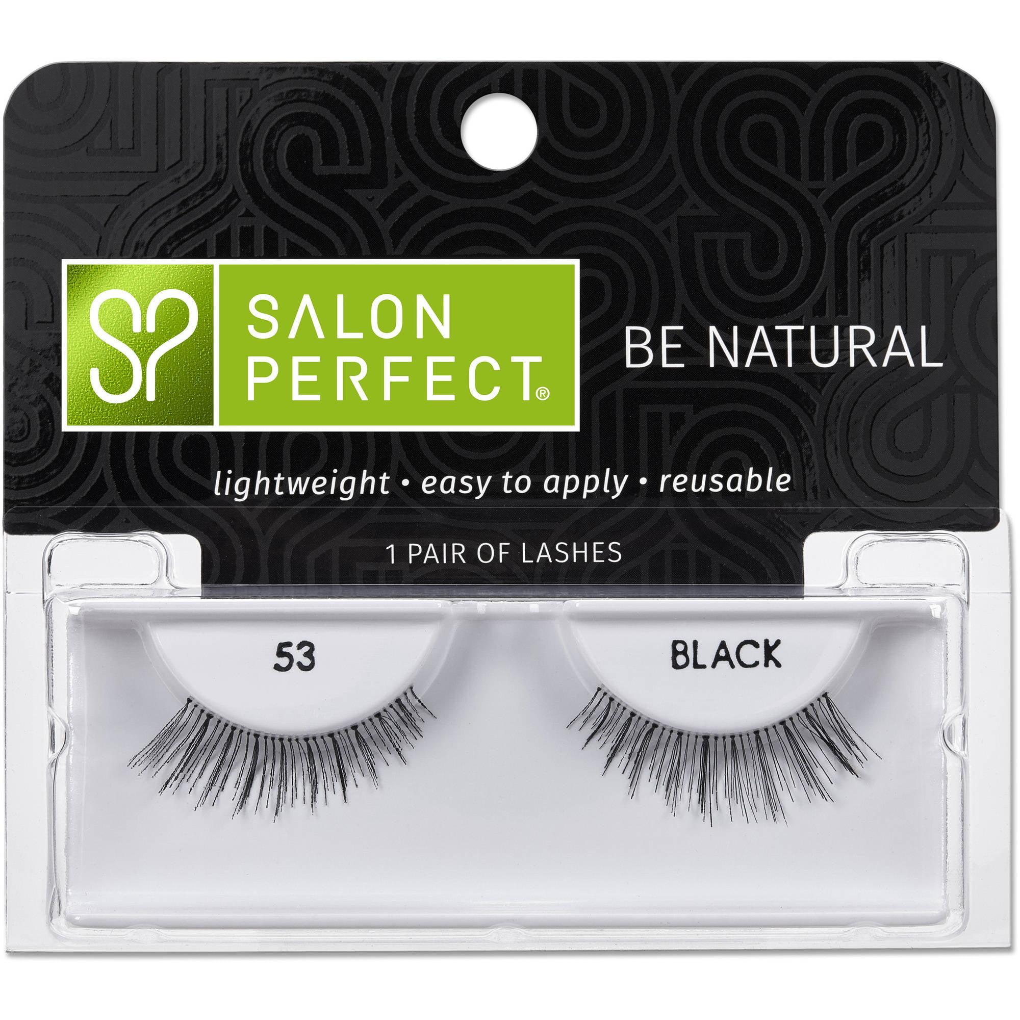 Salon Perfect Perfectly Natural Eyelashes, 53 Black, 1 pr