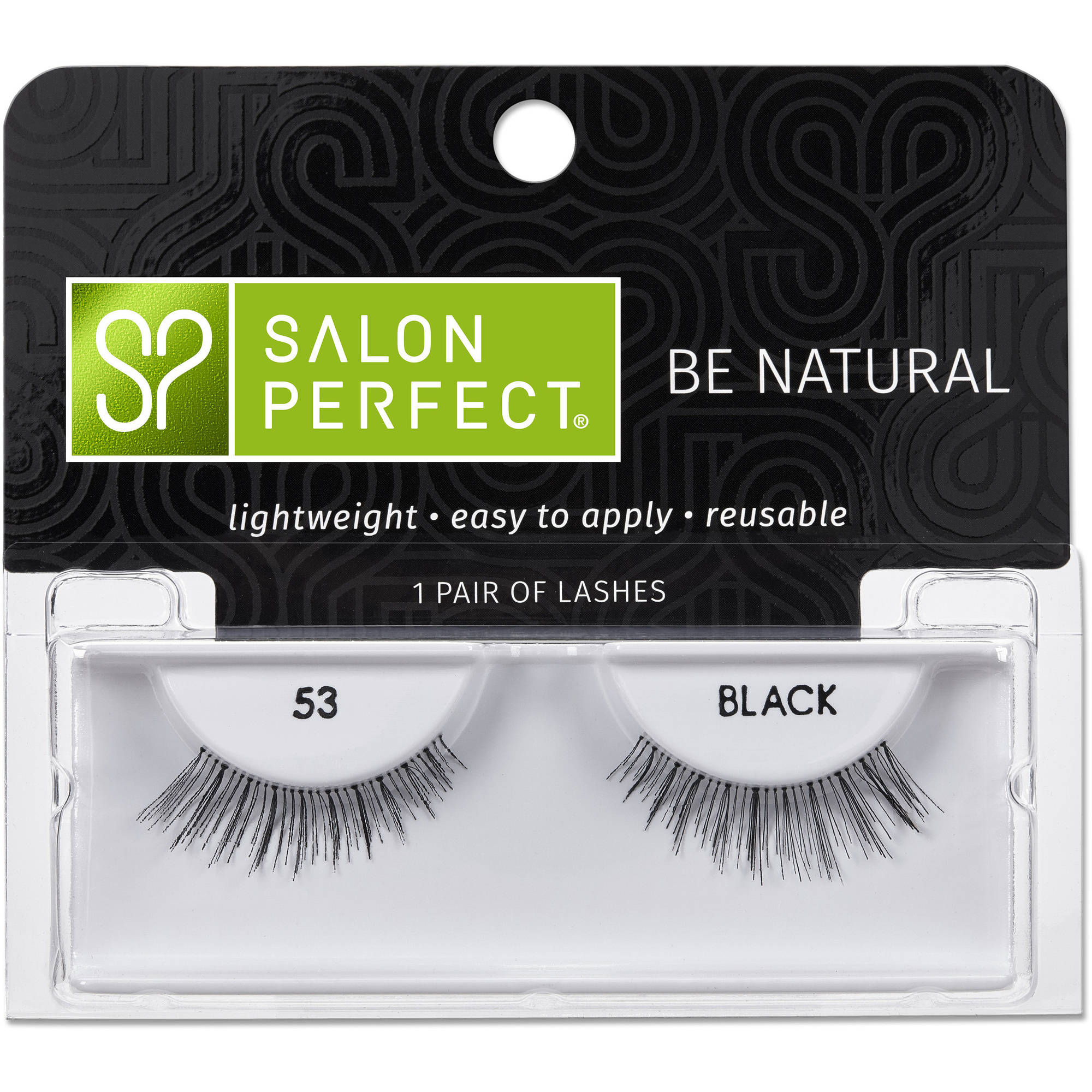 Salon Perfect Perfectly Natural Eyelashes, 53 Black, 1 pr