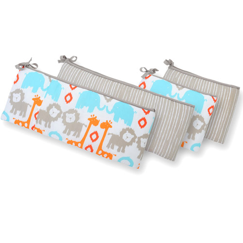 Sumersault Ikat Animals Crib Bumper