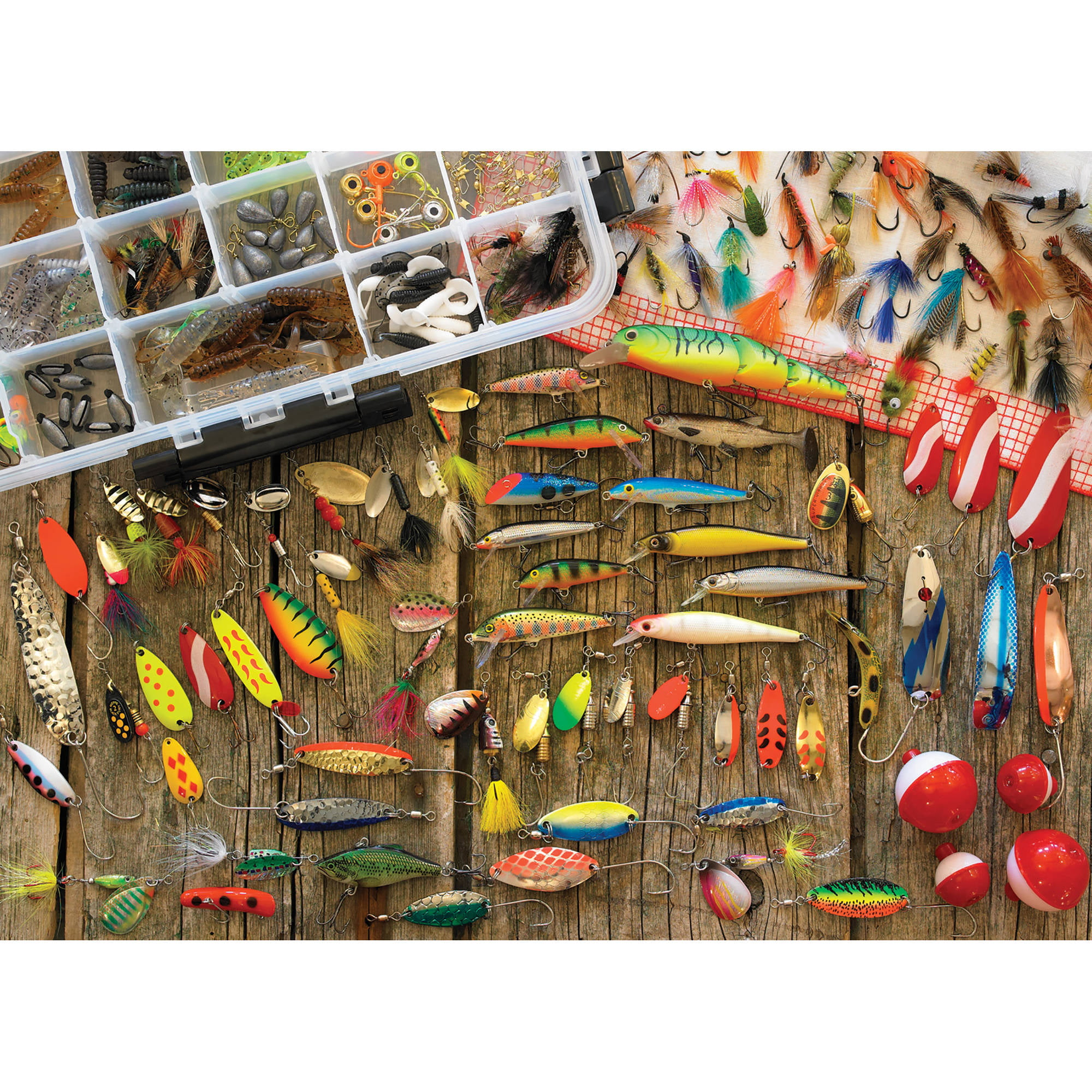 Cobble Hill: Fishing Lures 1000 Piece Jigsaw Puzzle by Outset Media