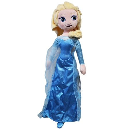 Disney's Frozen Princess Elsa Blue Dress Movie Plush Toy (23in) (Elsa Dress From Frozen Movie)