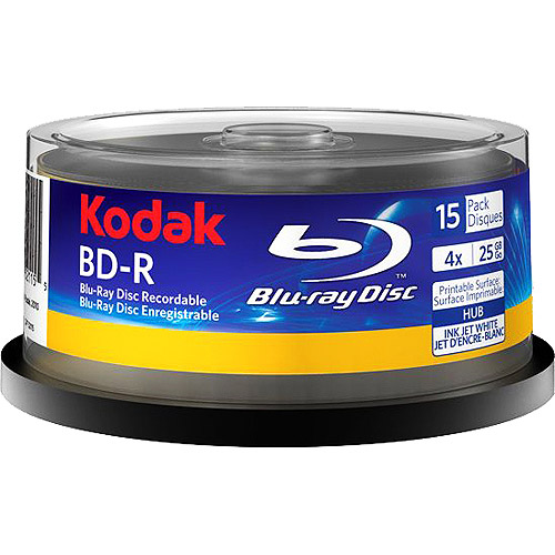 Kodak 52115 Blue Ray Disc 15 Pack Spindle