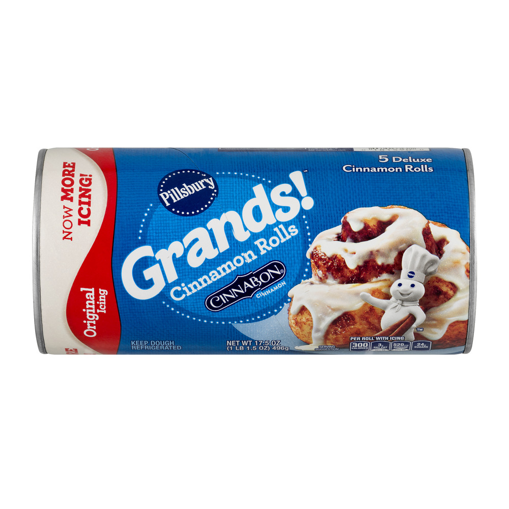 Pillsbury Grands!™ Refrigerated Cinnamon Rolls with Icing 5 ct 17.5 oz Can