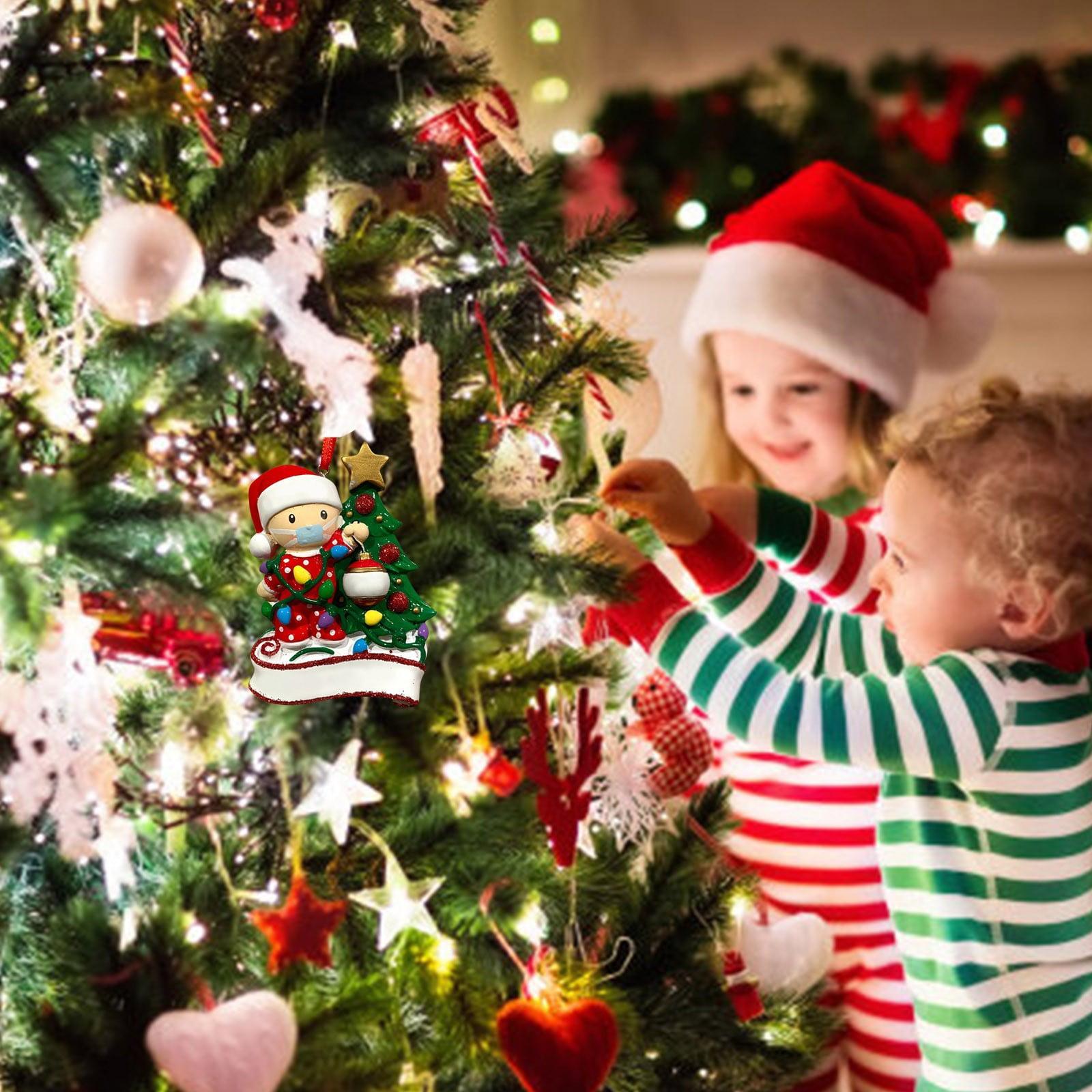 Vanlofe 2020 Christmas Tree Decorations Christmas Ornament Santa Claus Baby Walmart Com Walmart Com