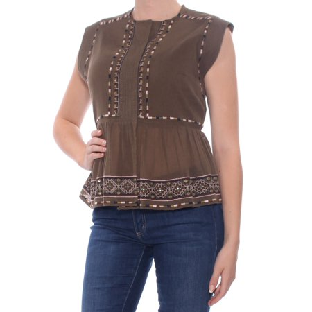 French Connection Print - french connection womens adanna crinkled embroiderd casual top