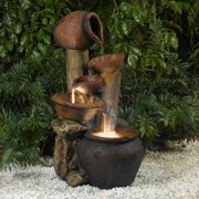 Jeco Pentole Pot Indoor/Outdoor Fountain with Illumination