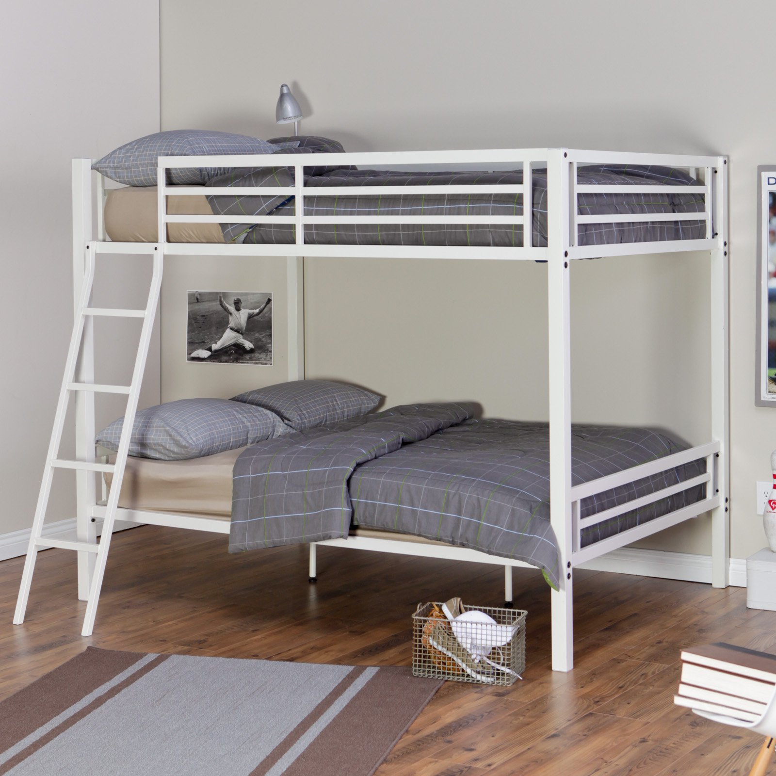 Duro Hanley Full over Full Bunk Bed White by