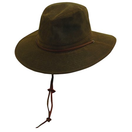 DPC Outdoor Design Men's Oil Cloth Brim Hat BROWN S
