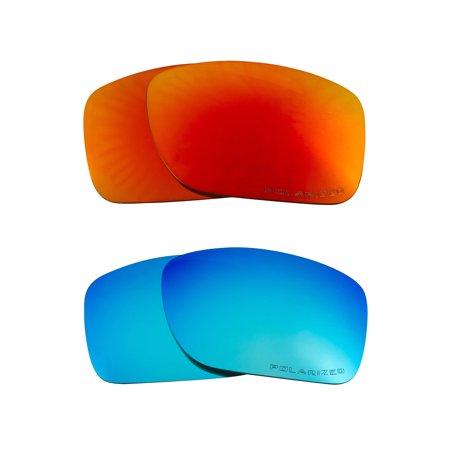 TURBINE Replacement Lenses Polarized Blue & Red by SEEK fits OAKLEY (Oakley Turbine Accessories)