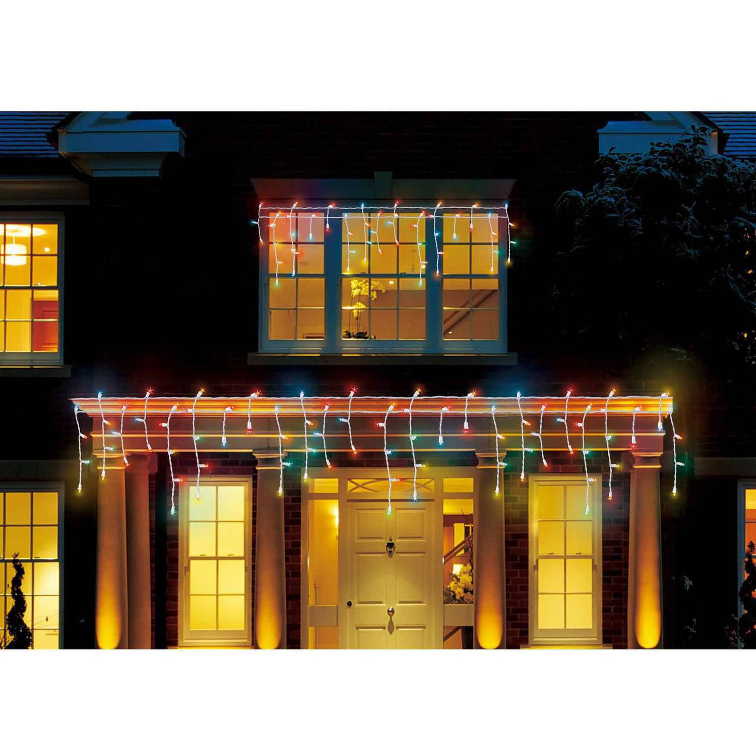 Holiday Time LED Micro Icicle Christmas Lights Multi, 450-Count