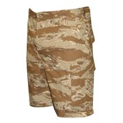 BDU Shorts Desert Tiger Stripe 100% Cotton Rip-Stop, Small