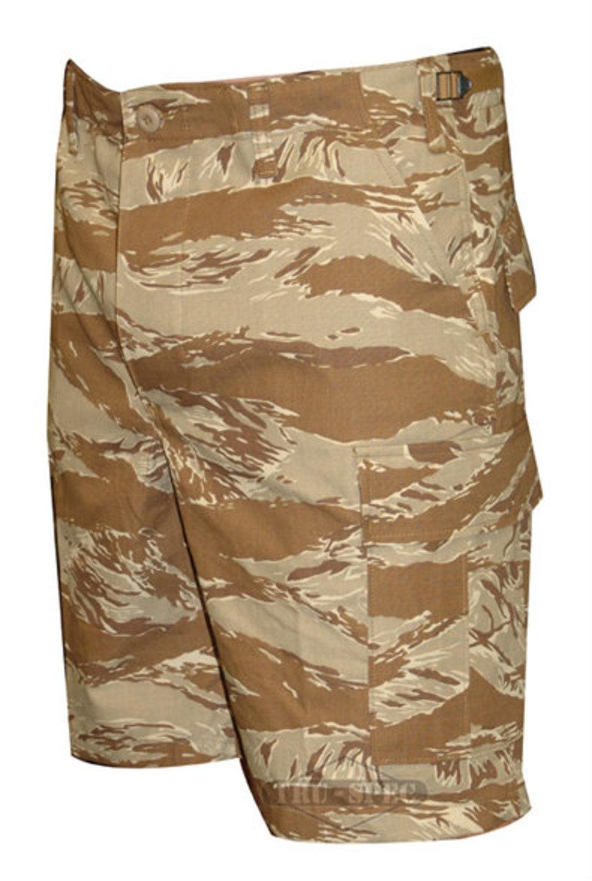 BDU Shorts Desert Tiger Stripe 100% Cotton Rip-Stop, Small