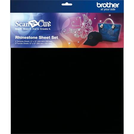 Brother ScanNCut Rhinestone Sheet Set 6/Pkg-3 Template, 3 Transfer