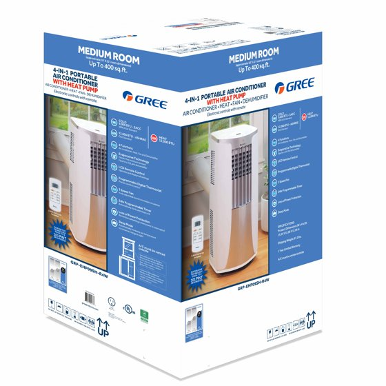 Gree 4-IN-1 400-SQ FT Portable Air Conditioner with Heat Pump (115