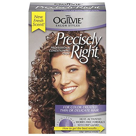 4 Pack Ogilvie Precisely Right Perm Color-Treated, Thin or Delicate Hair 1 ct
