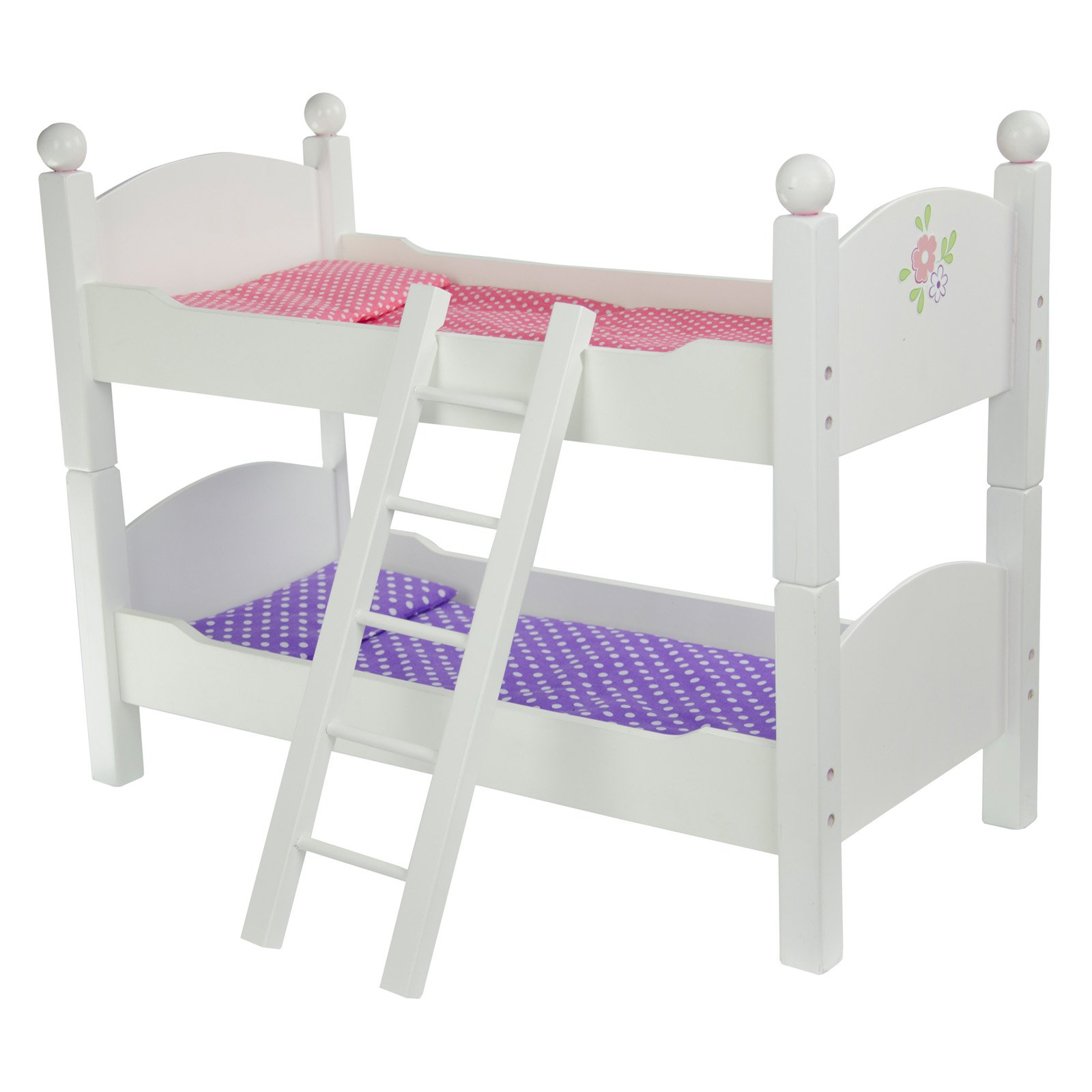 Oliviau0027s Little World   Princess Double Bunk Bed (White) Wooden 18 Inch  Doll Furniture   Walmart.com