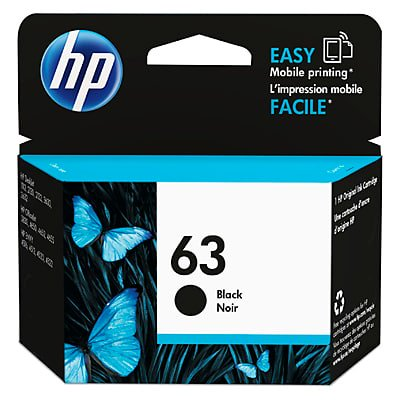 HP 63 Black Original Ink Cartridge ()
