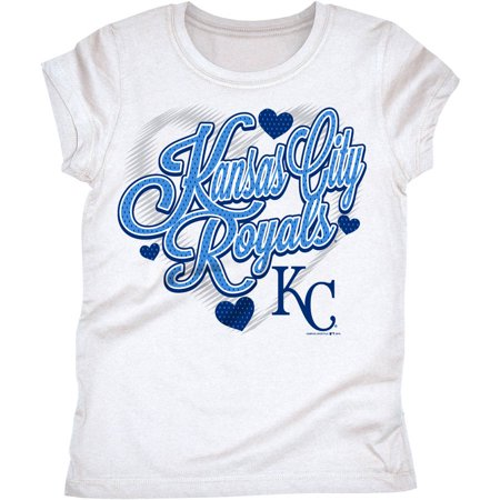 MLB Kansas City Royals Girls Short Sleeve White Graphic Tee - Party City League City
