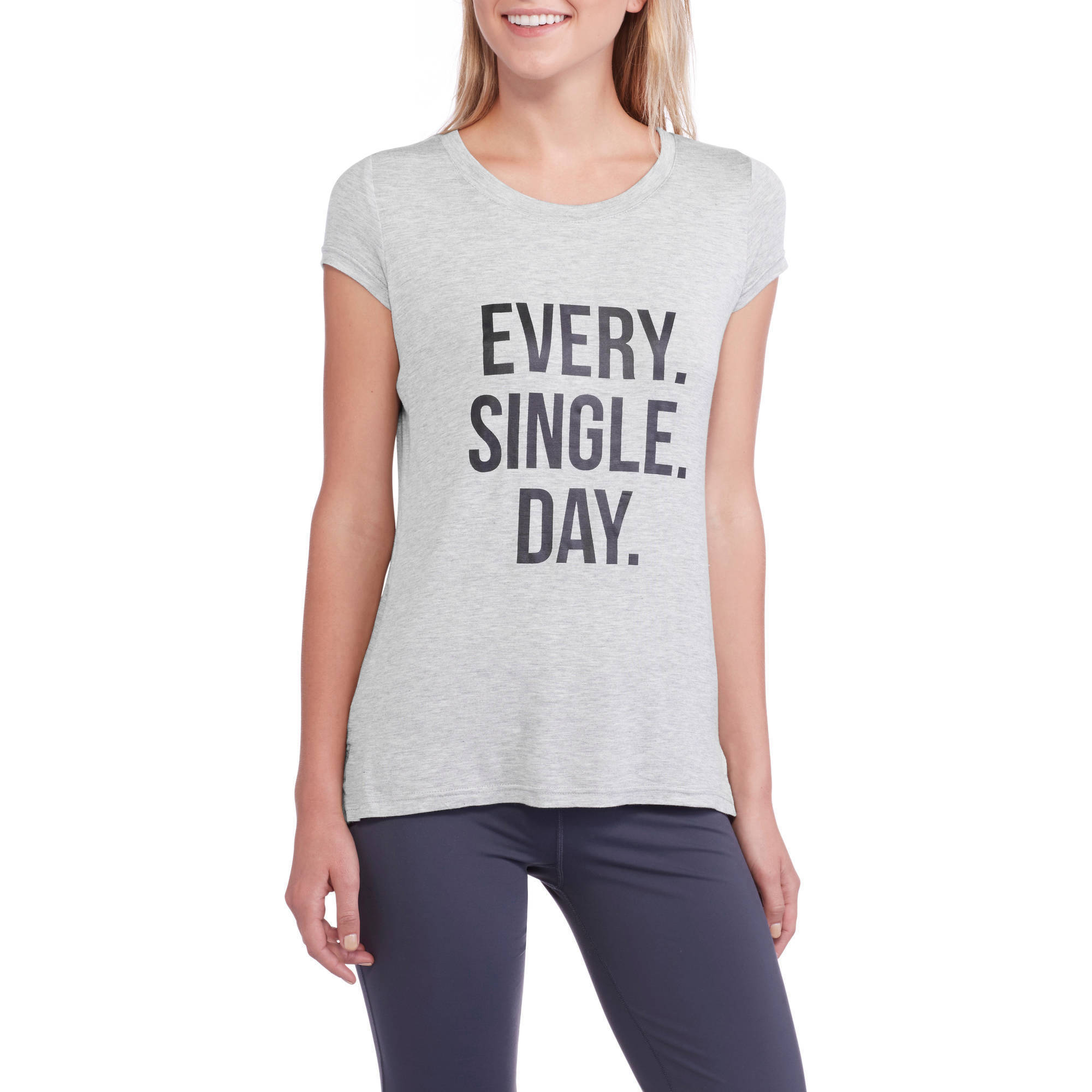 Fitspiration Women's 'Every.Single.Day.' Crew Neck Active Graphic T-Shirt