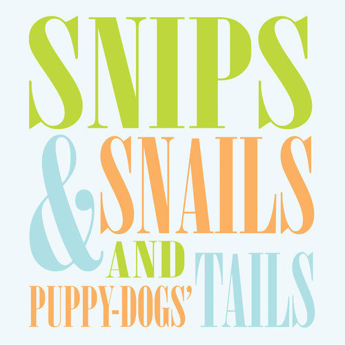 Trendy Peas Snips and Snails Wall Art