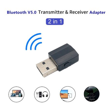 Audio 5.0 Bluetooth Transmitter/Receiver 2-In-1 Wireless Bluetooth Adapter for PC Windows Computer - image 1 de 9
