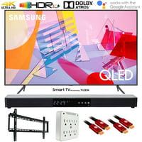 "Samsung QN55Q60TA 55"" Q60T QLED 4K UHD Smart HDR TV (2020 Model) with Deco Gear Home Theater Soundbar, Wall Mount Accessory Kit and HDMI Cable Bundle (55 Inch TV 55Q60T 55Q60 55Q60TA QN55Q60TAFXZA)"