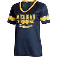 Women's Russell Athletic Navy Michigan Wolverines Fashion Jersey V-Neck T-Shirt